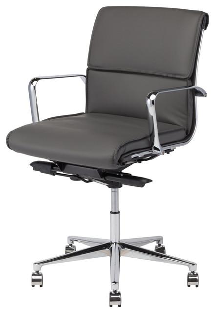Lucia Office Chair Dark Gray Modern Chairs