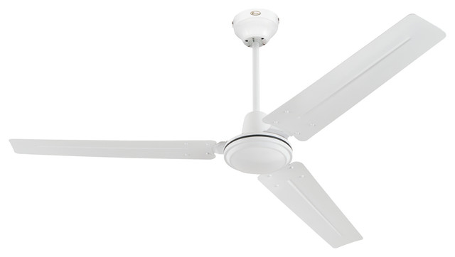 Westinghouse 54 White Industrial 3 Blade Indoor Ceiling Fan.