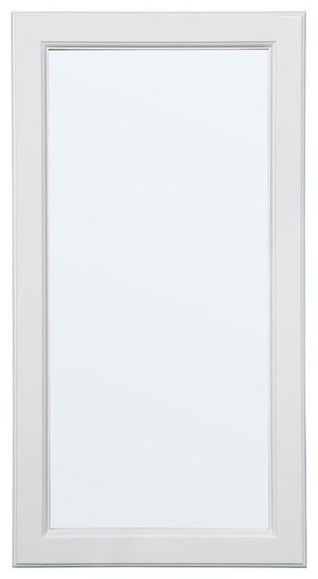 "Wyndham 16""x30 Single Door Surface Mount Medicine Cabinet, White Semi-Gloss."