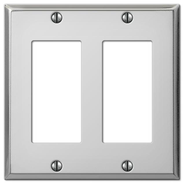 Pro Polished Chrome Steel 2 Rocker Wall Plate