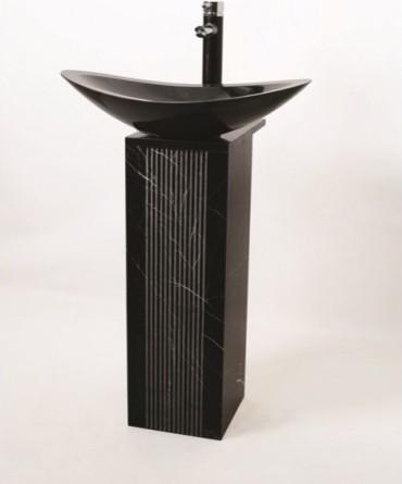 Terra - Stone Pedestal (Without Basin) - Modern - Bathroom Basins ...