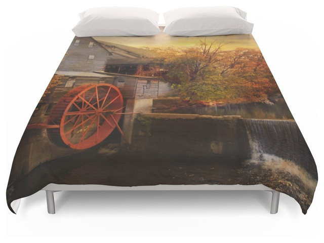 Society6 The Old Mill Duvet Cover Farmhouse Duvet Covers And Duvet Sets