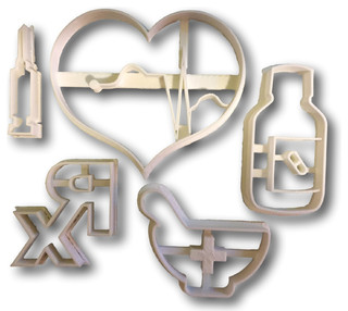 Arbi Design Medical Supplies First Aid Cookie Cutters, Bundle - Cookie Cutters | Houzz