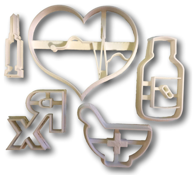 Medical Supplies First Aid Cookie Cutters, Bundle.