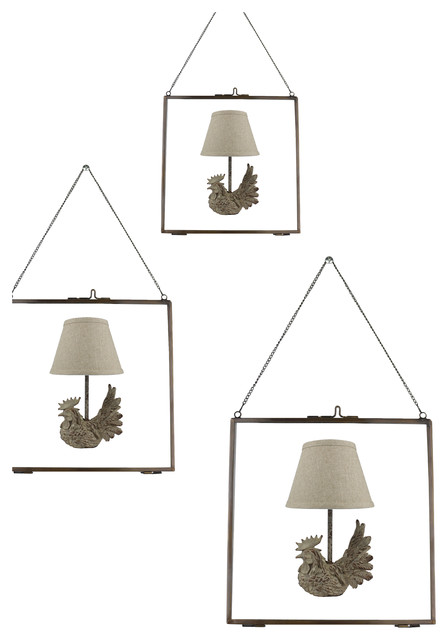 Urbanest Set of 3 Brixton Brass and Glass Hanging Picture Frame ...