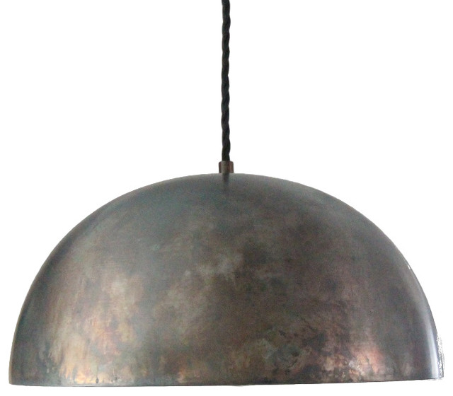 "Black Steel 14"" Dome Pendant Light Island Pendant Kitchen Light. -1"