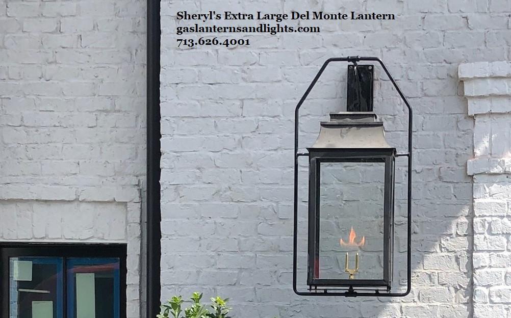 Sheryl's Del Monte Transitional Gas Lanterns