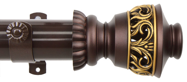Lattice Curtain Rod, Cocoa, 48-84.