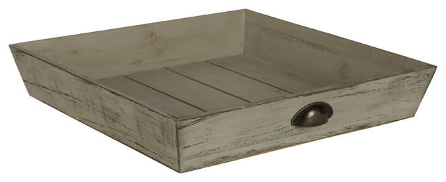 Swell Kate And Laurel Woodmont Distressed Wood Square Ottoman Tray Gray Spiritservingveterans Wood Chair Design Ideas Spiritservingveteransorg