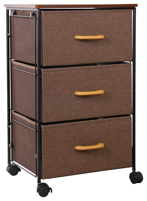 Lifewit 3-Tier Drawer Storage Bin Cabinet Rolling Cart Clothes Knitting Basket.