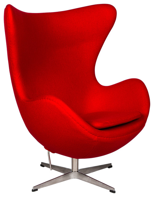 leisuremod egg chair red wool