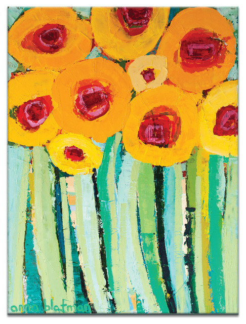 Yellow Poppies, Canvas Print.