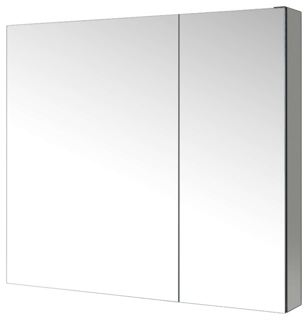"Confiant 20"" Mirrored Medicine Cabinet Recessed or Surface Mount - Modern - Medicine Cabinets ..."