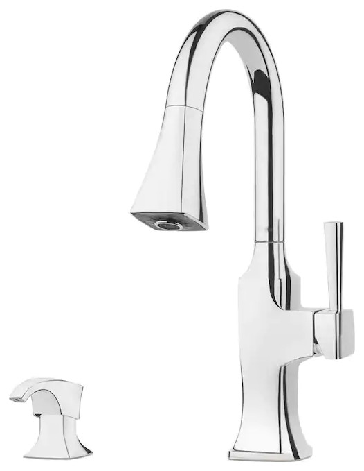 Pfister F 529 7kfc Kroft Pulldown Kitchen Faucet With Soap Dispenser Chrome Contemporary Kitchen Faucets By Speedysinks