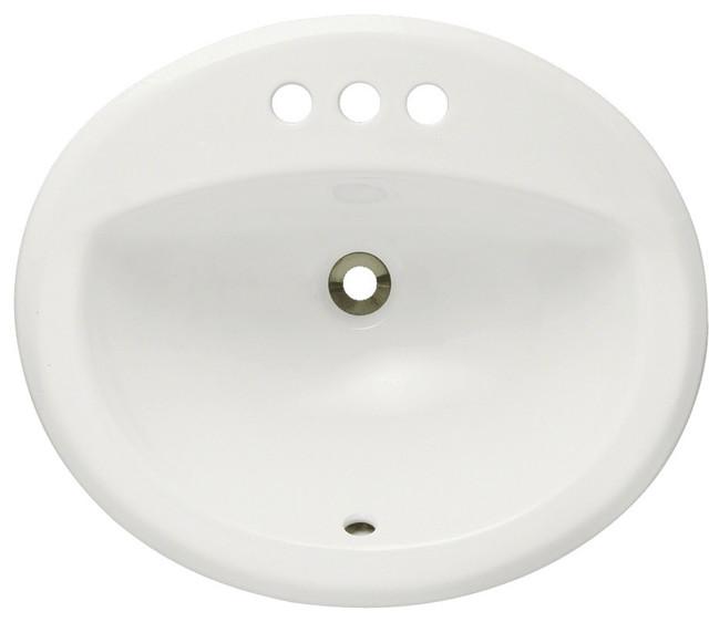 Polaris P8102ob Bisque Overmount Bathroom Sink.