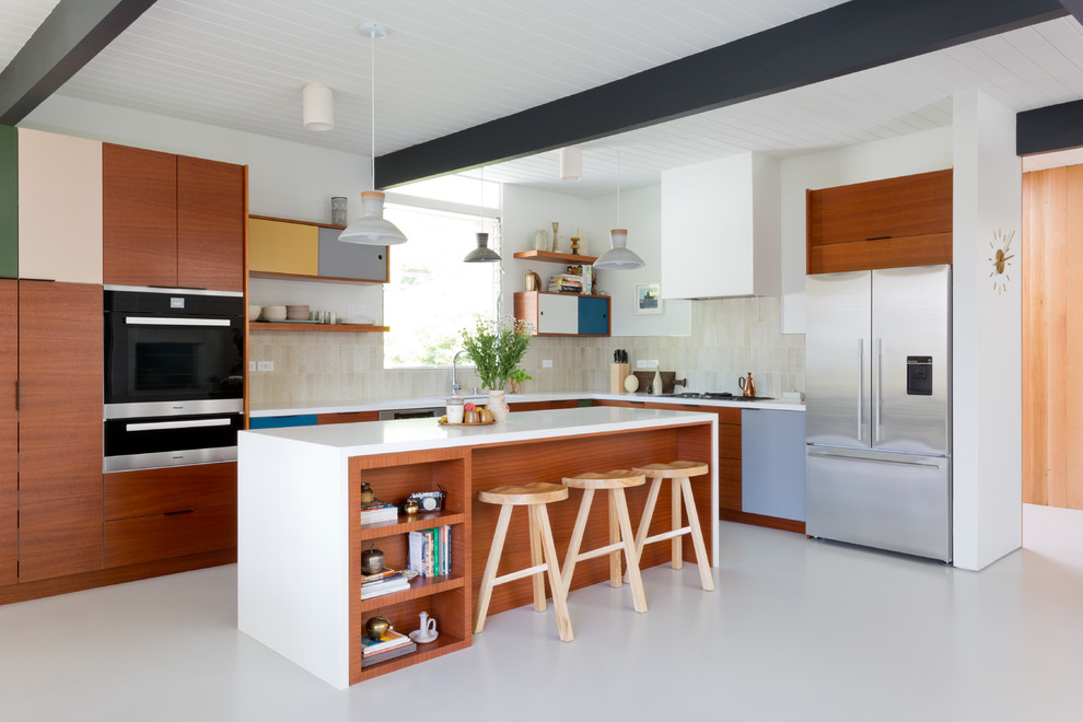 Inspiration for a 1960s home design remodel in San Diego