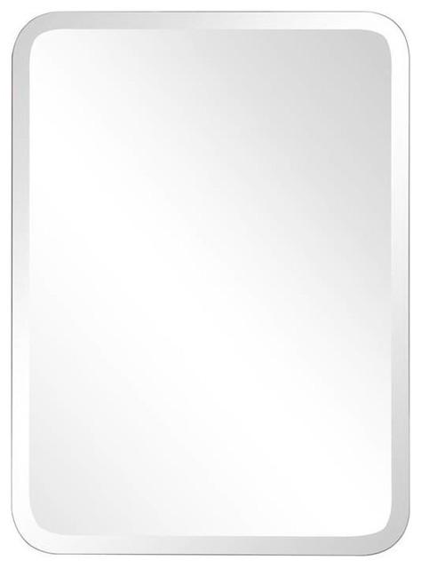 Frameless Clear Oblong Mirror.