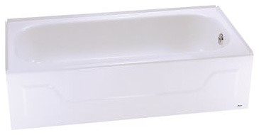 "Steel Bathtub With Right Hand Drain, White, 30""x60""x14 1/4"""