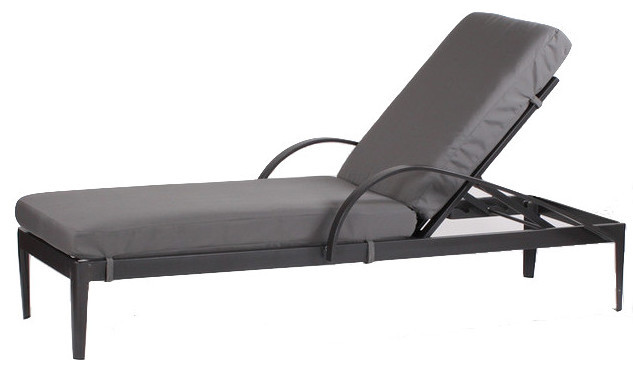 Canvas Air Blue Serene Single Arm Chaise Lounge Indoor Chaise Lounge Chairs