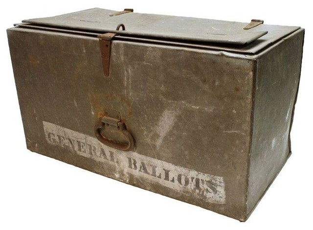 Metal Ballot Box industrial-storage-bins-and-boxes  sc 1 st  Houzz & Metal Ballot Box - Industrial - Storage Bins And Boxes - by Chairish Aboutintivar.Com