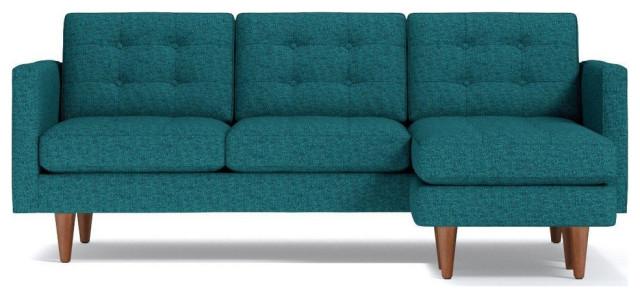 Lexington Reversible Chaise Sofa, Chicago Blue