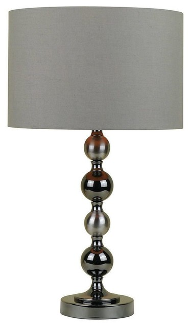 Paris Black 1 Light Stacked Glass Table Lamp