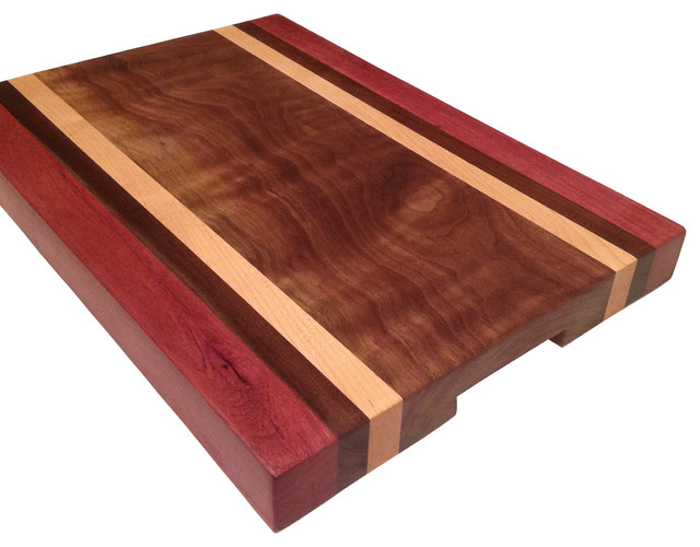 Extra large bloodwood walnut maple cutting board