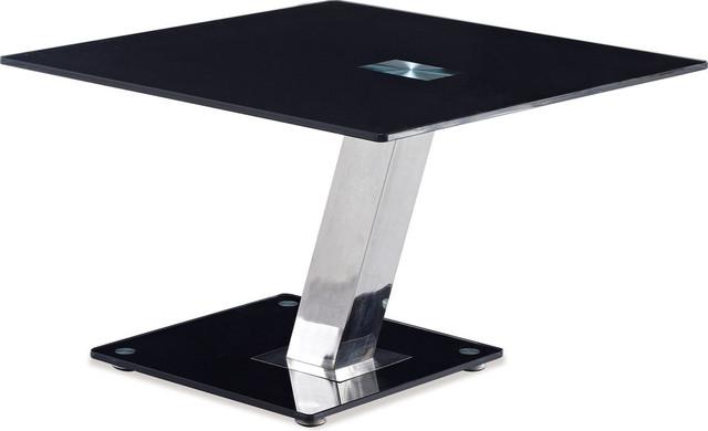 end table black chrome