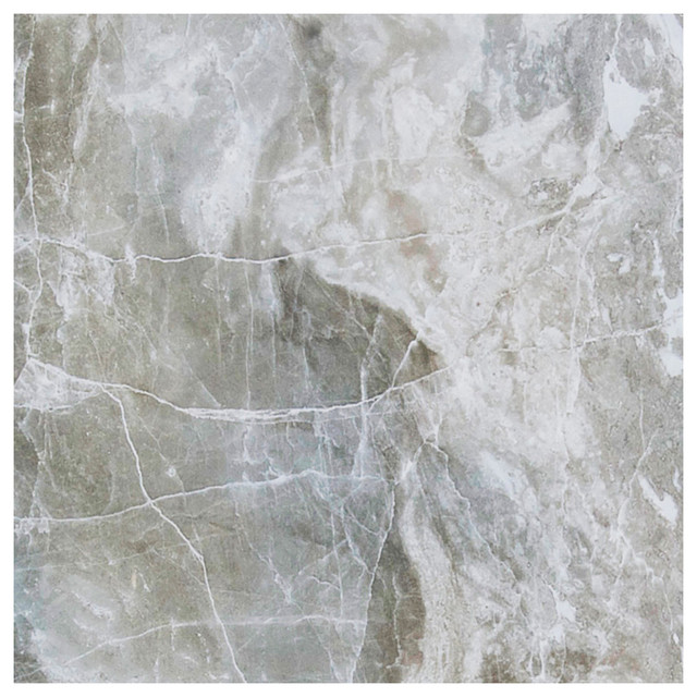 """13""""x13"""" Thrill Natural Porcelain Digital Tech Floor And Wall, Frost."""