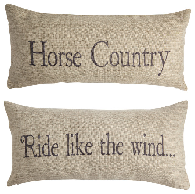 Horse Riding Indoor Outdoor Tan Pillow Farm Ranch Rustic Pillows Farmhouse Outdoor Cushions And Pillows By Evelyn Hope Collection