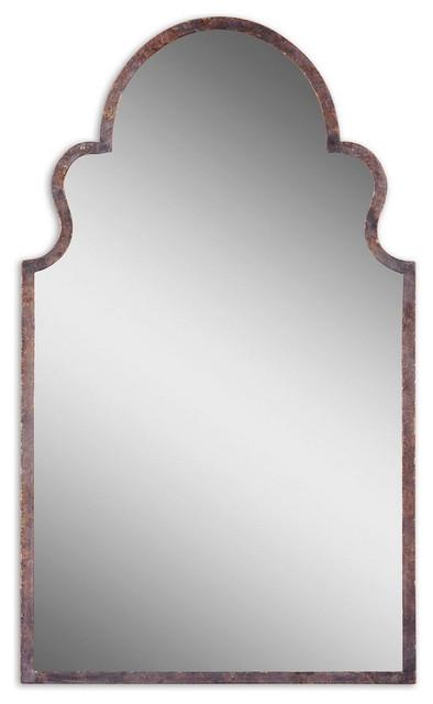 """Brayden 41"""" Arch Mirror Textured Dark Brown. -1"""