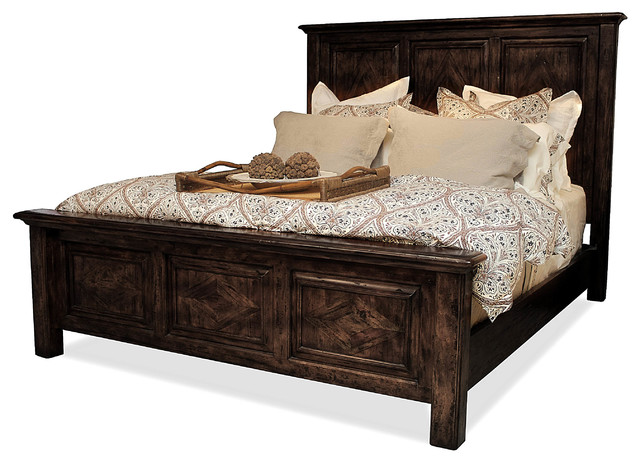 Chelsea wood bed with footboard traditional panel beds Traditional wood headboard