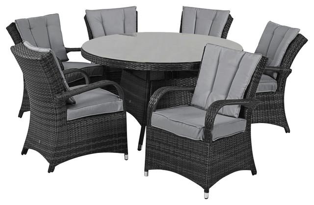 Texas 7-Piece Outdoor Dining Set, Grey
