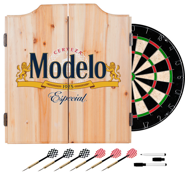 Modelo Dart Board Set With Cabinet - Contemporary - Darts And Dartboards - by Trademark Global