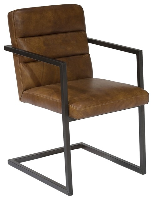 Wide Arm Dining Chair Solid Metal Frame