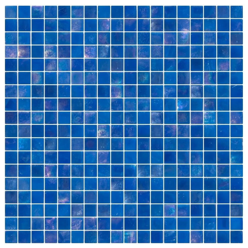 Full Sheet Glitter Black Galaxy Glass Mosaic Tile