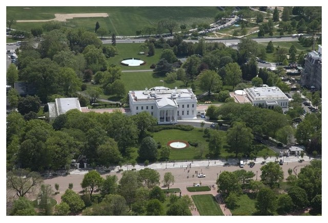 Excellent Aerial View Of The White House Washington D C Paper Art 62X42 Download Free Architecture Designs Scobabritishbridgeorg