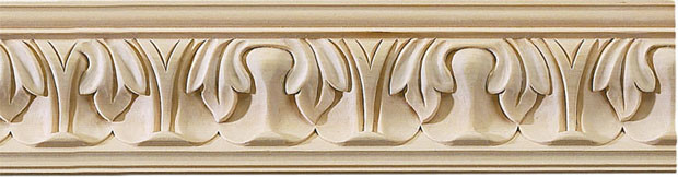 Wayland carved crown molding medium bass wood Crown molding india
