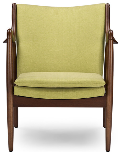Magnificent Shakespeare Green Fabric Upholstered Leisure Accent Chair Walnut Wood Frame Squirreltailoven Fun Painted Chair Ideas Images Squirreltailovenorg