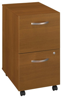 Bush Series C Mobile 2 Drawer File Pedestal in Warm Oak - Transitional - Filing Cabinets - by ...