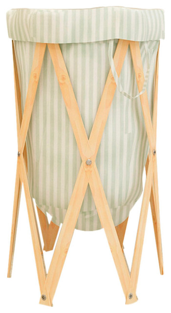 Stripe-Foldable Laundry Hamper Blh14.