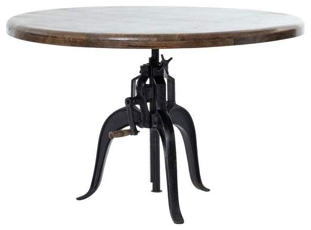 Merveilleux Rockwell Adjustable Round Dining Table