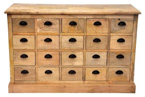 Indian Rosewood Dorchester Apothecary Cabinet - Modern - Accent Chests And Cabinets - by Chairish