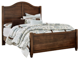 Albert Shiplap Bed With Footboard, Full
