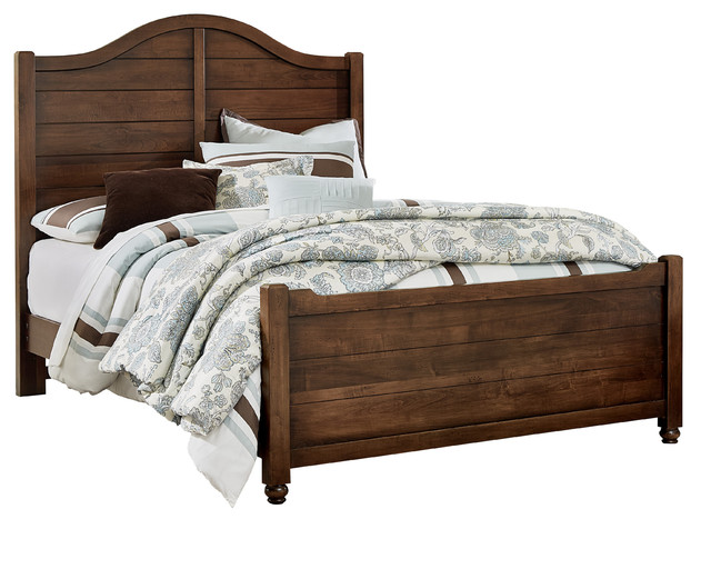 Albert Shiplap Bed With Footboard, Full.