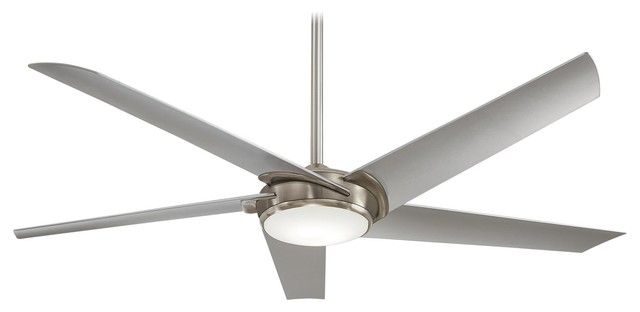 "Minka Aire Raptor Brushed Nickel 60"" Ceiling Fan."