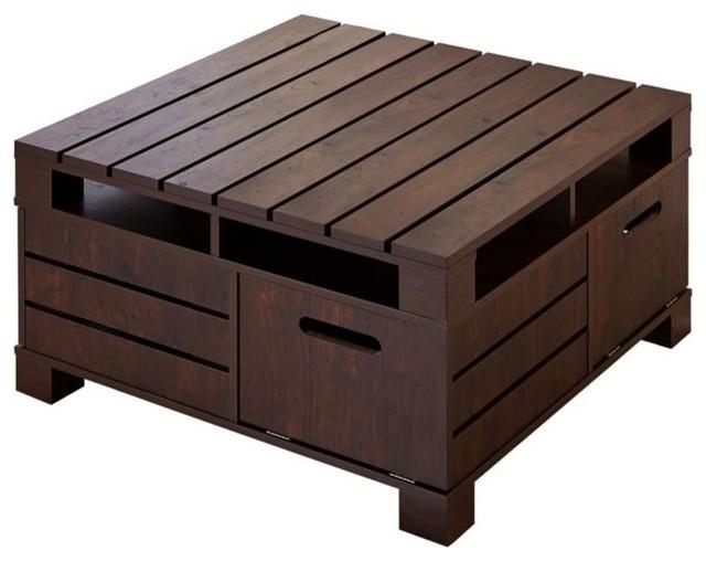 Furniture Of America Bartoll Square Storage Coffee Table