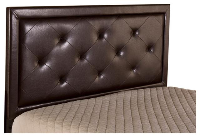 Becker Headboard - Twin - Headboard Frame Not Included - Brown Faux Leather.