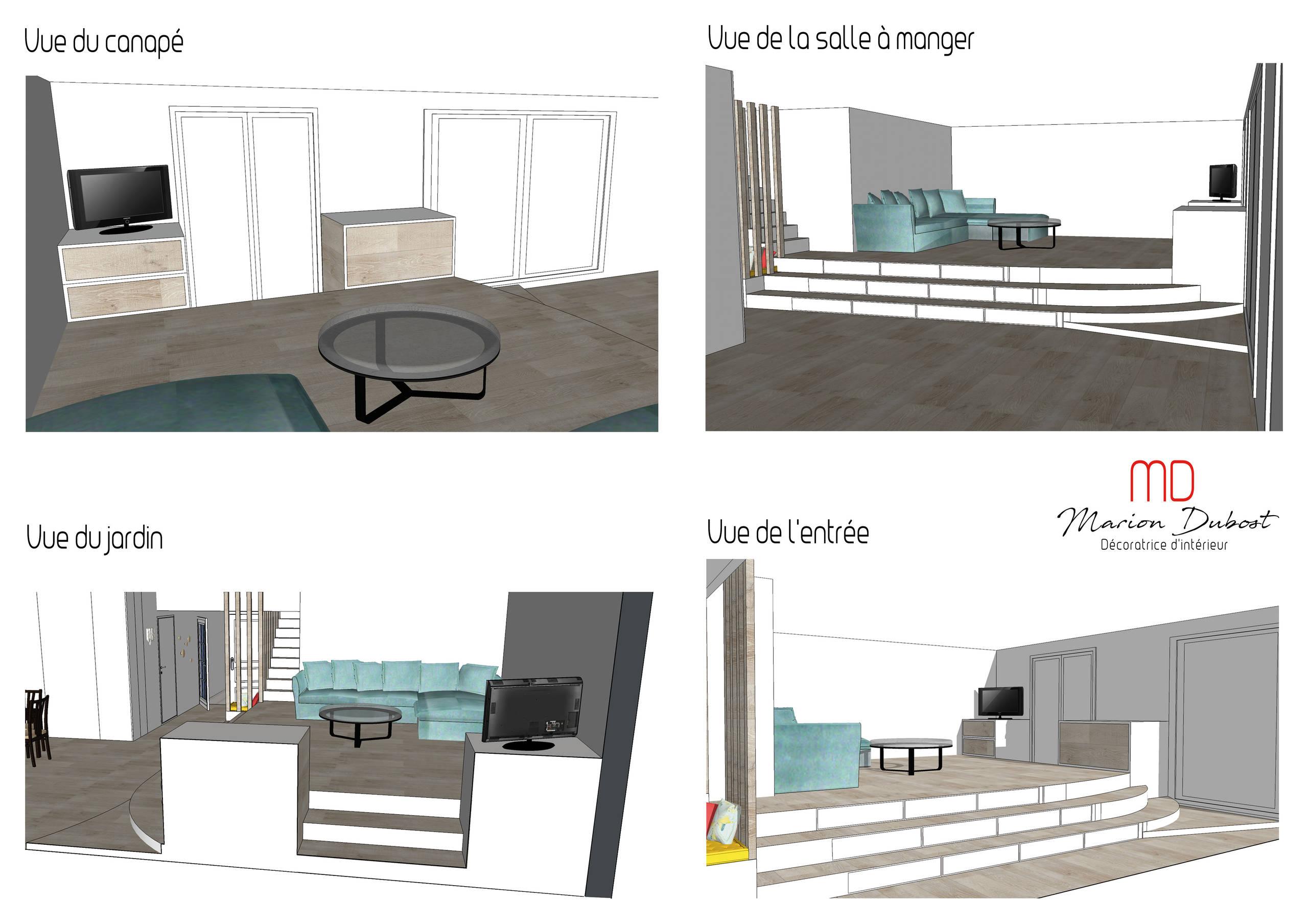 Rendu 3D pièce à vivre