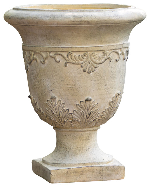Floriana Antique Green Stone Planter.